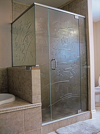 Kiln Formed Glass Enclosures. Frameless shower doors and enclosuers are the
